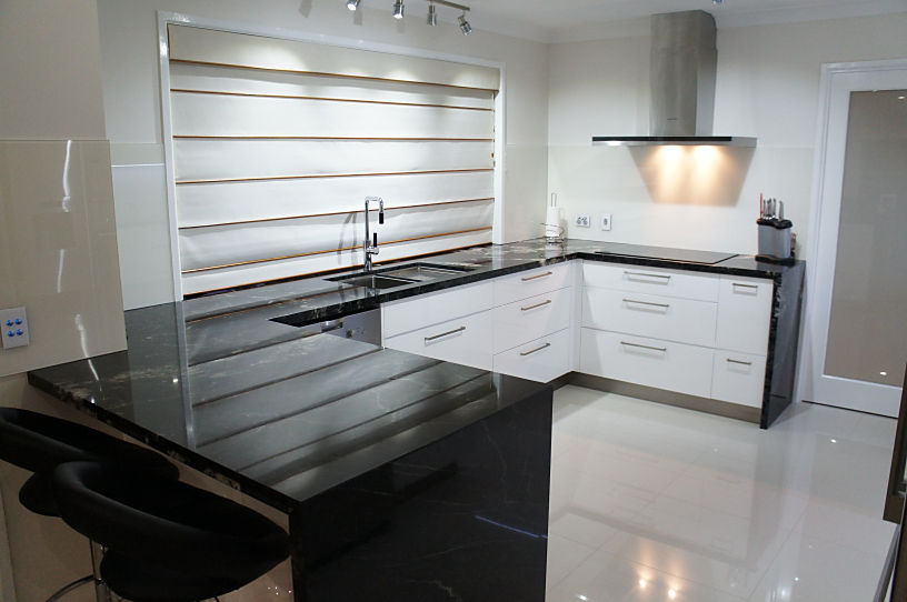 Mitred Waterfall Ends - Kitchens Brisbane
