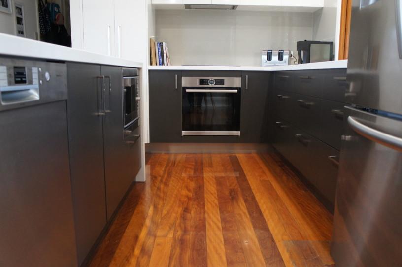 Narrow Galley View - Brisbane Kitchens
