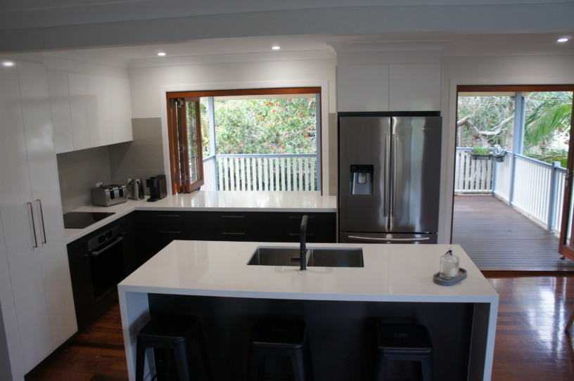 Waterfall Ends to Island Benchtops Kitchens Brisbane