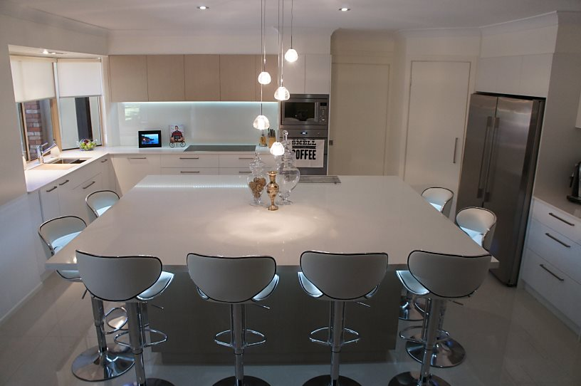 Brisbane Kitchens-Island Seating for Eight