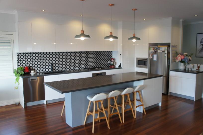 Wide Shot of 2 Pac Polyurethane Kitchen Design Brisbane