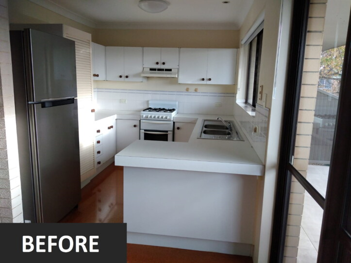 Brisbane Kitchens-Revitalized Unit-Before